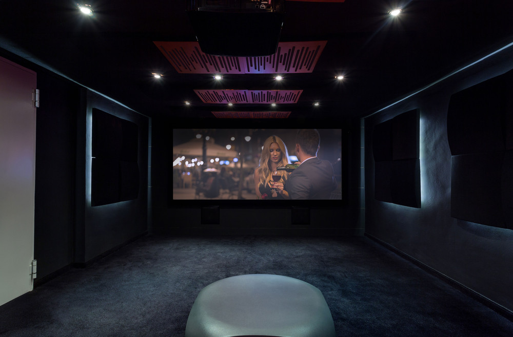 custom home movie theater system installation in Seattle